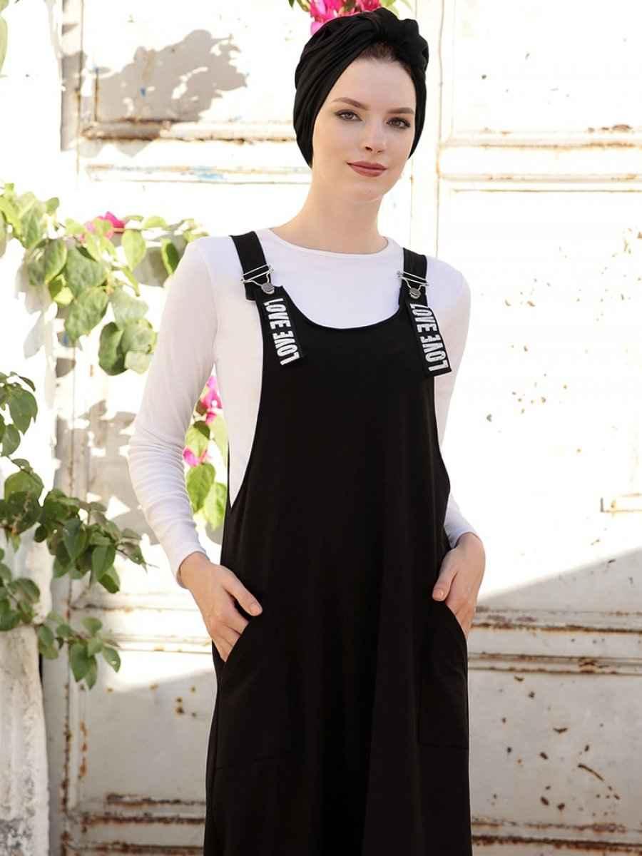 Selma Sarı Design En Şık Tesettür Salopet Elbise Modelleri