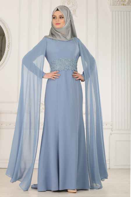 Tesettür İsland Söz Elbisesi Modelleri