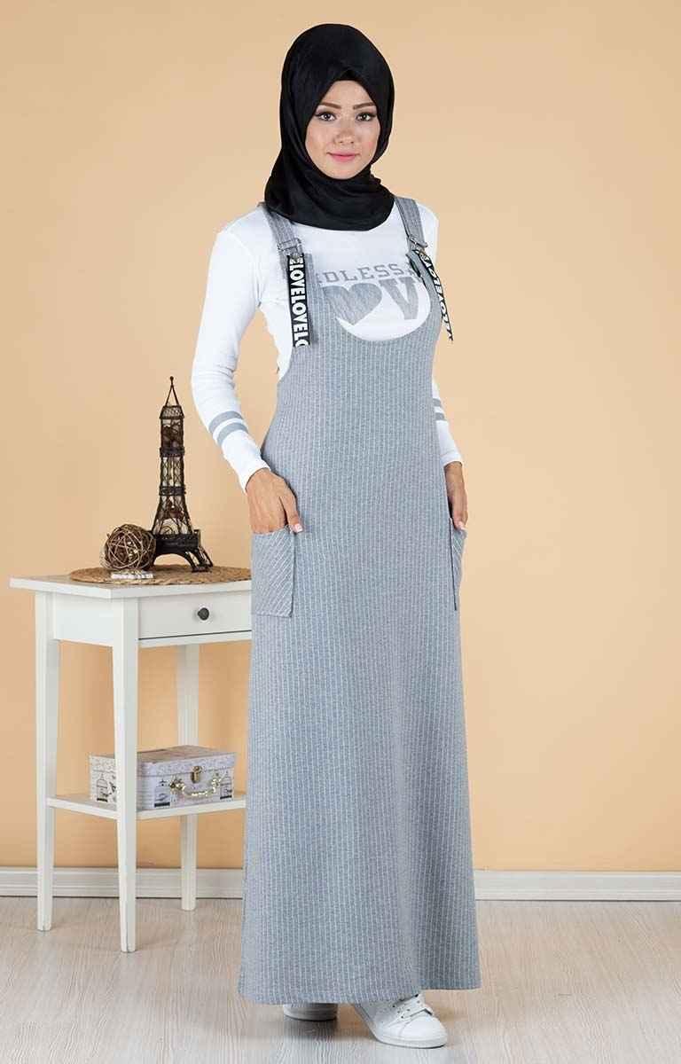 Tesettür Pazarı Salopet Elbise Modelleri
