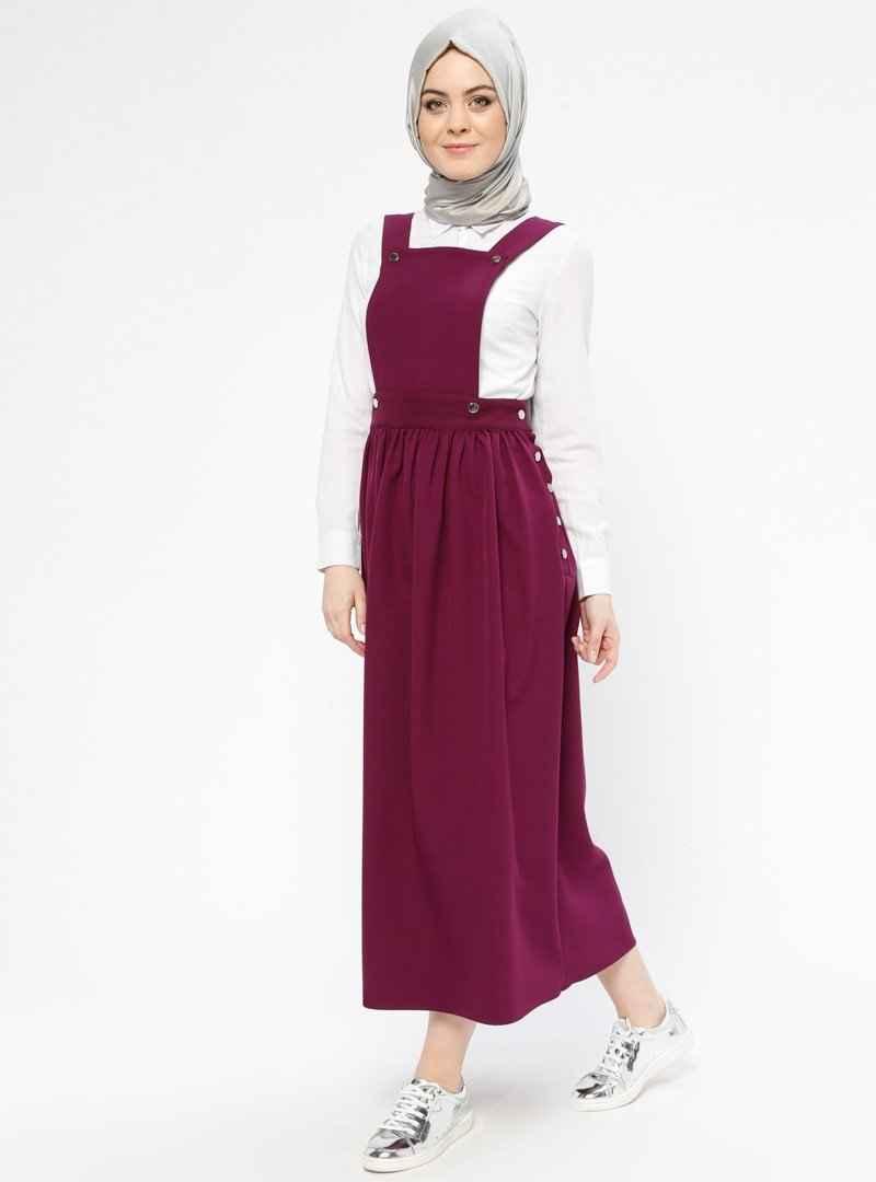 Veteks Line Tesettür Salopet Elbise Modelleri