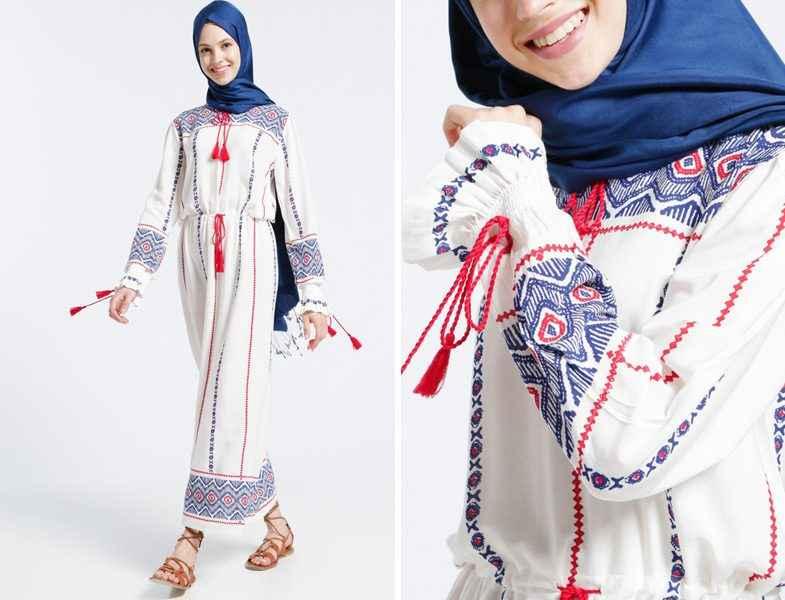 Açık Renk Yazlık Tesettür Kıyafet Modelleri