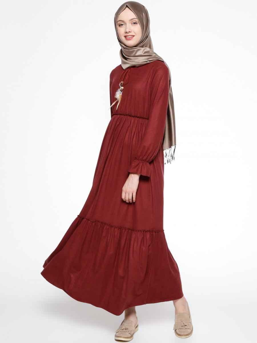 Beha Tesettür Süet Elbise Modelleri