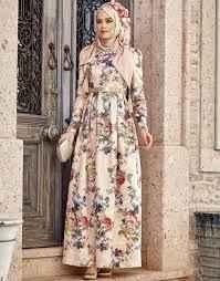 En Şık Desenli Tesettür Abiye Elbise Modelleri