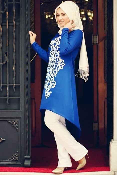 En Şık Tesettür Abiye Tunik Modelleri