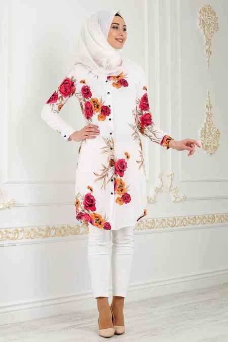 En Güzel Nayla Collection Desenli Tesettür Tunik Modelleri