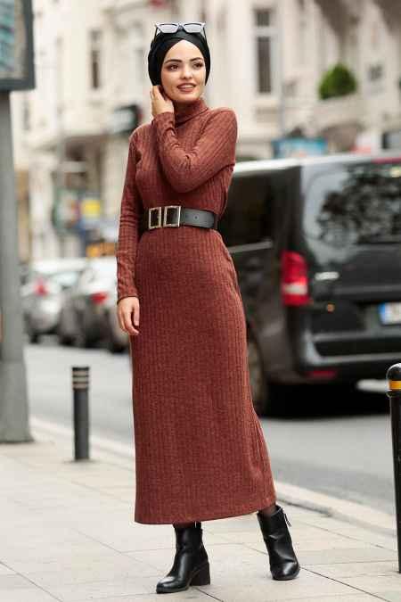 En Güzel Nayla Collection Kemerli Tesettür Elbise Modelleri
