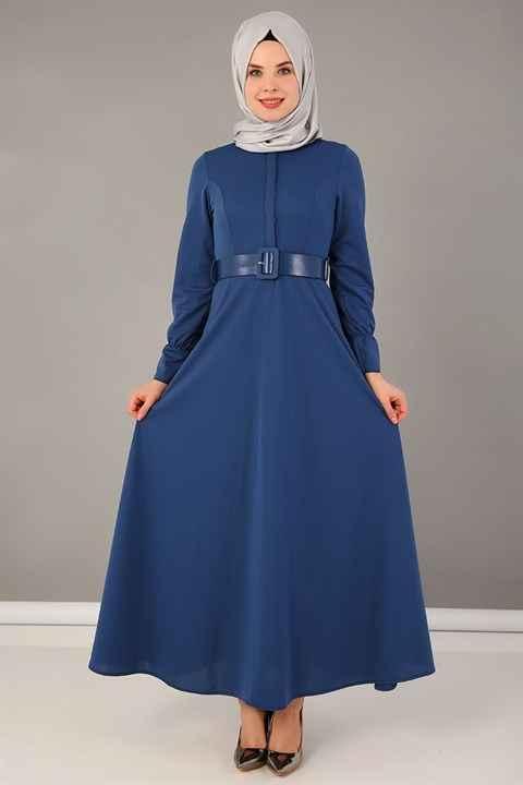 ModaPeriy Kemerli Tesettür Elbise Modelleri