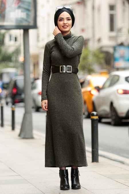 Nayla Collection Kemerli Tesettür Elbise Modelleri