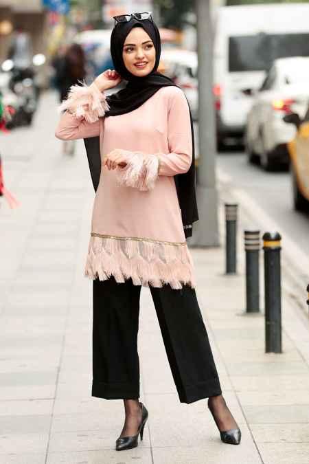 Nayla Collection Püsküllü Tesettür Tunik Modelleri