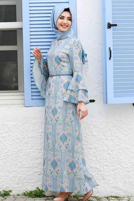 Yazlık Desenli Tesettür Kıyafet Modelleri
