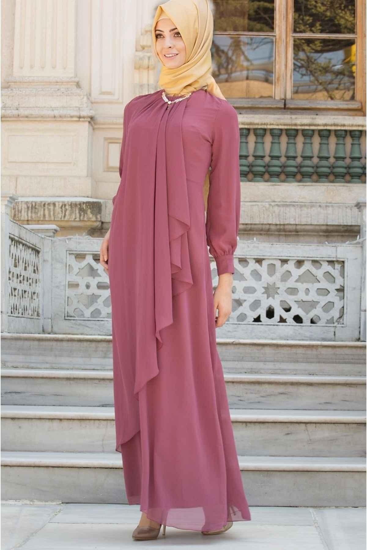 Şık ve Özel Patırtı Tesettür Abiye Elbise Modelleri