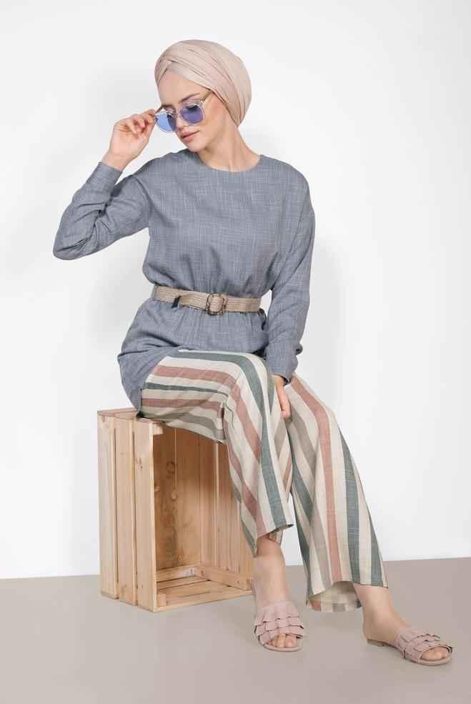 2018-2019 Alvina Tesettür 2 li Takım Modelleri