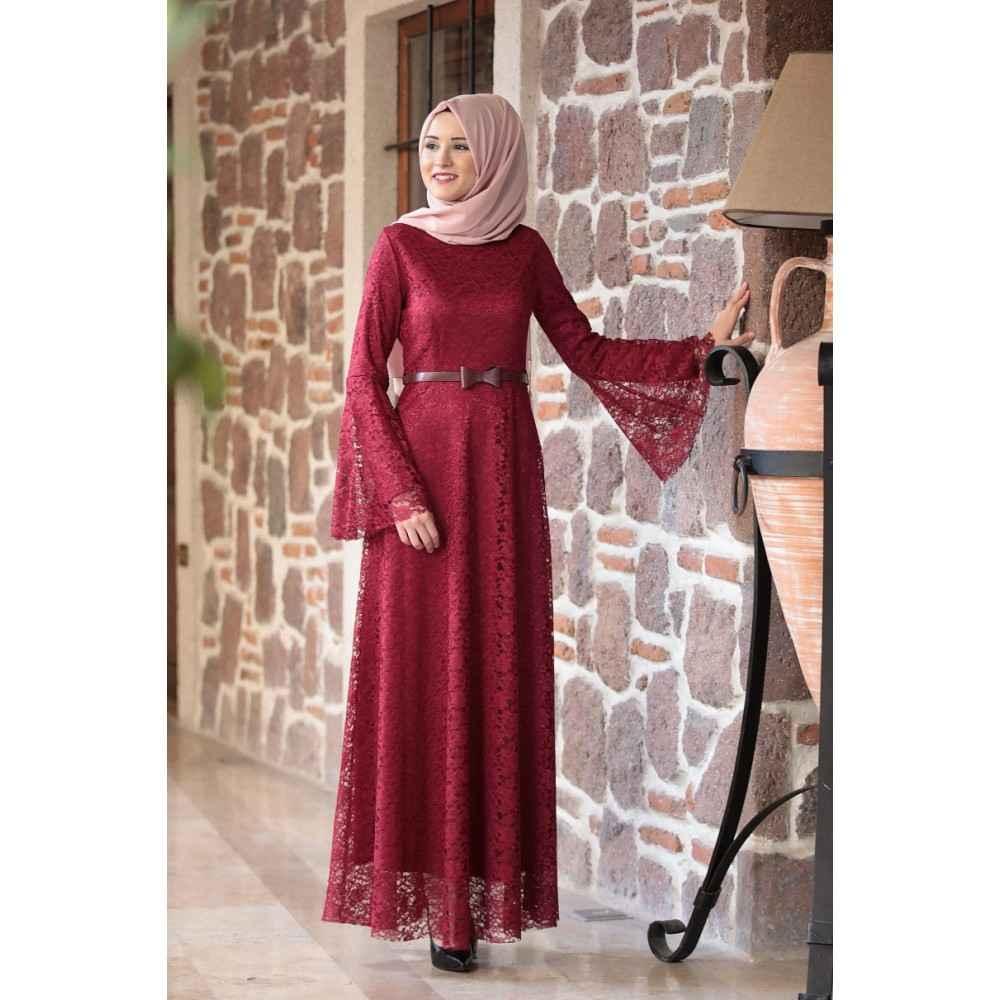 bdbf1d94f846a Dantelli Tesettür Elbise Modelleri | Moda Tesettür Giyim