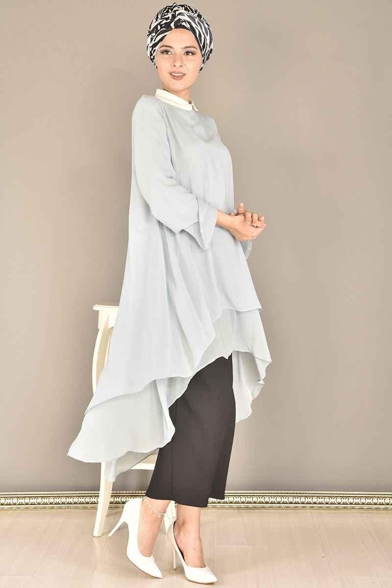 En Şık Modamerve Çift Katlı Tesettür Tunik Modelleri