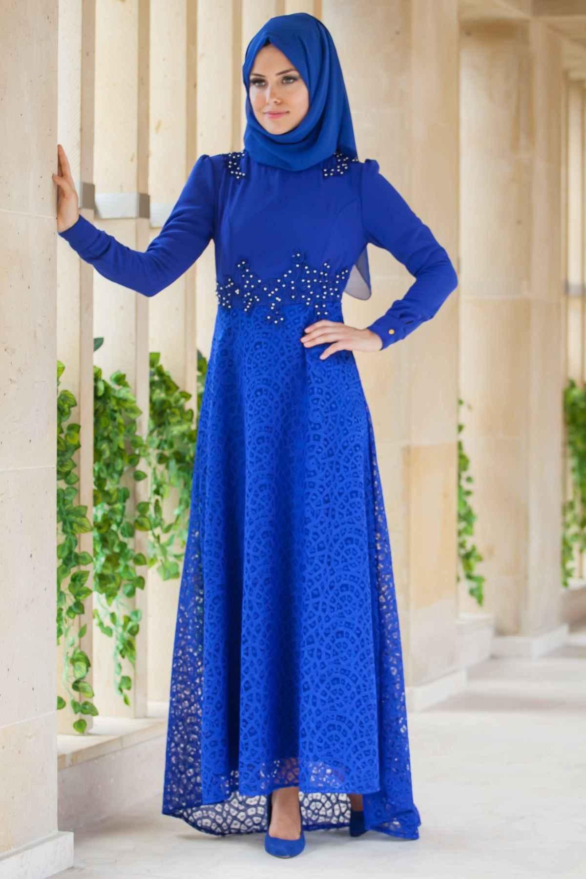 En Şık Patırtı Tesettür Abiye Elbise Modelleri
