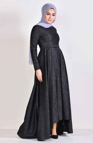 En Şık Simli Tesettür Elbise Modelleri