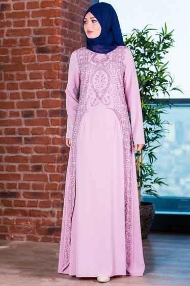 En Güzel Patırtı Tesettür Abiye Elbise Modelleri