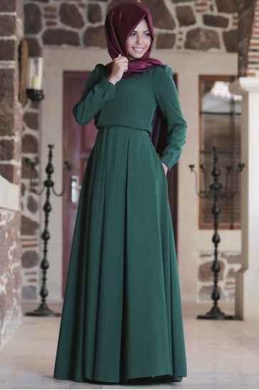 En Güzel Tesettür Boydan Elbise Modelleri