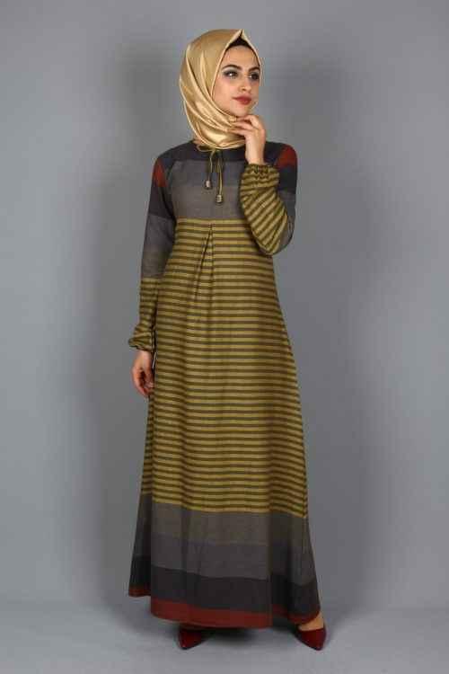 Eymina Tesettür Boydan Elbise Modelleri
