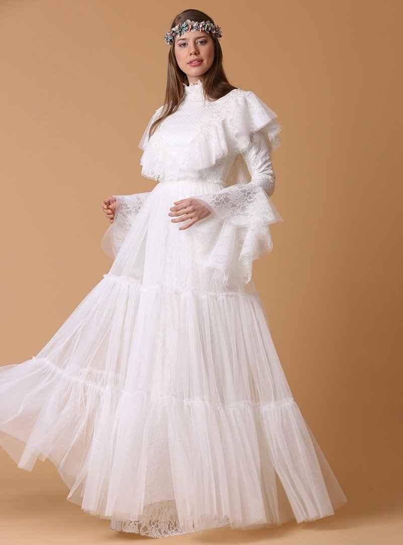 Jakar Tül Detaylı Tesettür Abiye Elbise Modelleri