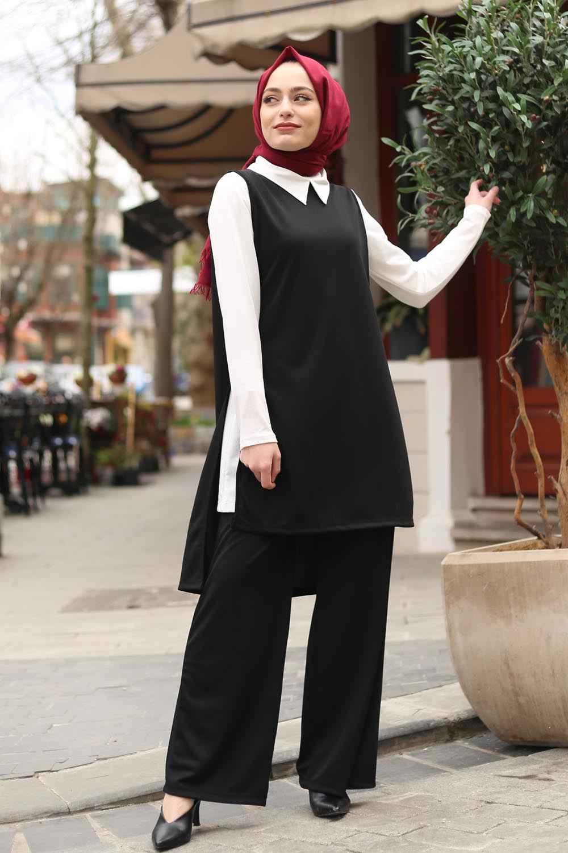 Lamelif Bebe Yaka Tesettür Tunik Modelleri