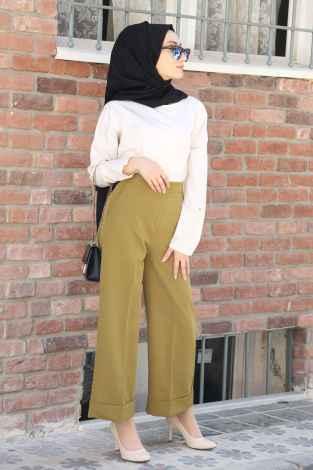 Modasena Şık Tesettür Bol Pantolon Modelleri