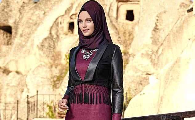Modern Tesettür Deri Kıyafet Kombinleri