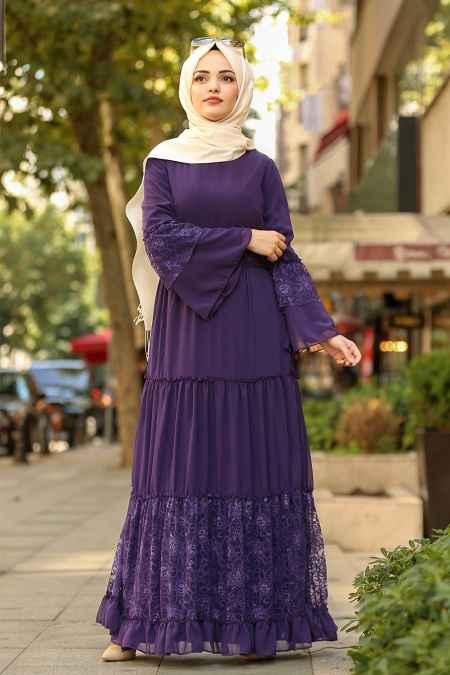Nayla Collection Dantelli Tesettür Elbise Modelleri
