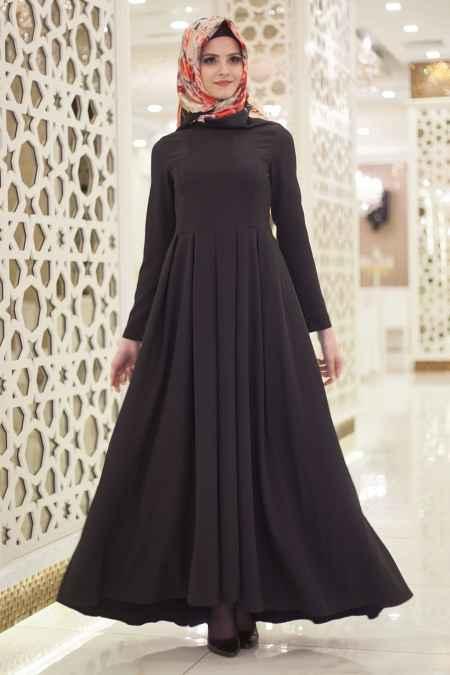 Neva Style En Güzel Tesettür Boydan Elbise Modelleri,