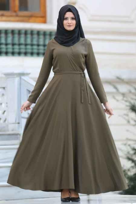 Neva Style Tesettür Boydan Elbise Modelleri,
