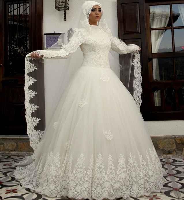 Osmanlı Moda Güpürlü Tesettür Gelinlik Modelleri