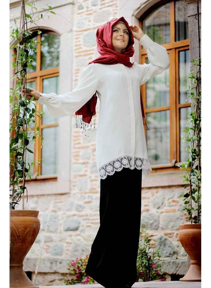 Pınar Şems Tesettür Bol Pantolon Modelleri