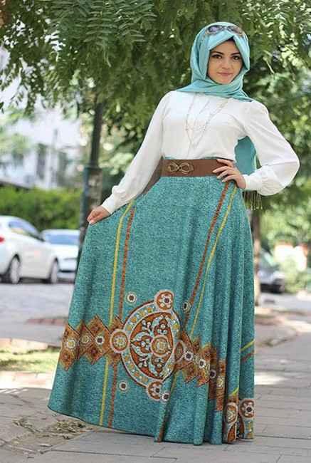 Pınar Şems Yazlık Tesettür Etek Modelleri