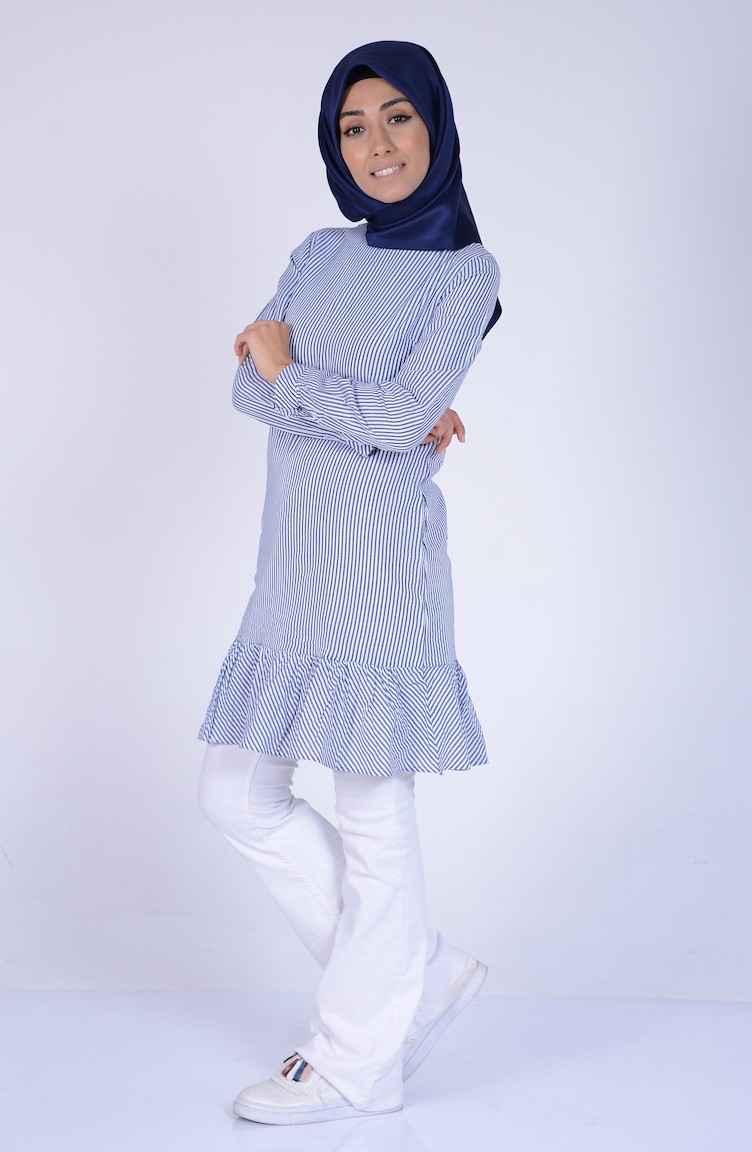 Sefamerve En Şık Tesettür Fırfırlı Tunik Modelleri