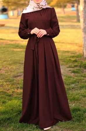 Suhneva Tesettür Boydan Elbise Modelleri