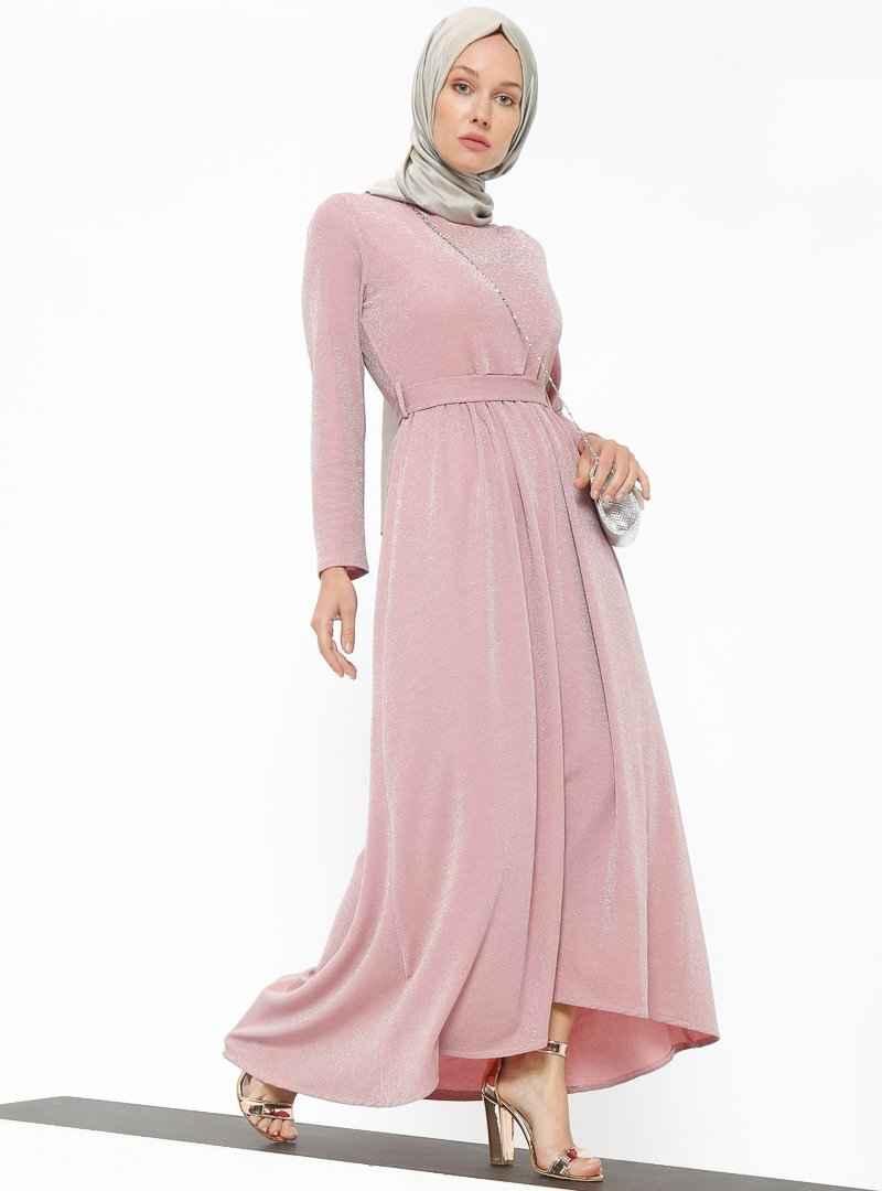 Tavin Tesettür Simli Abiye Elbise Modelleri