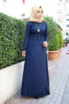 Tesettür Boydan Elbise Modelleri