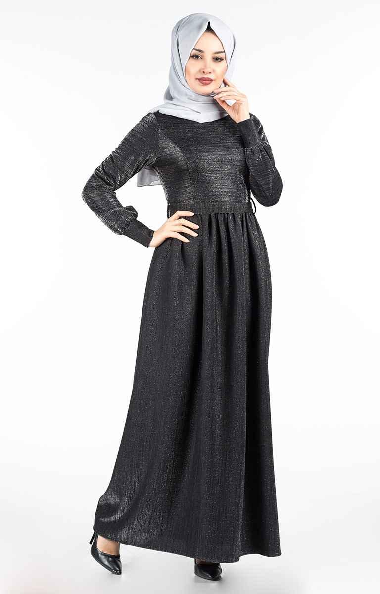 Tesettür Pazarı Simli Elbise Modelleri