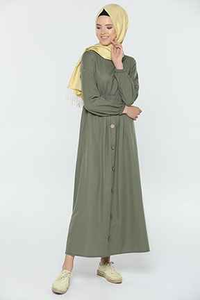 Tozlu Tesettür Boydan Elbise Modelleri