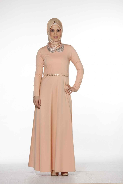 Trn Tesettür Boydan Elbise Modelleri