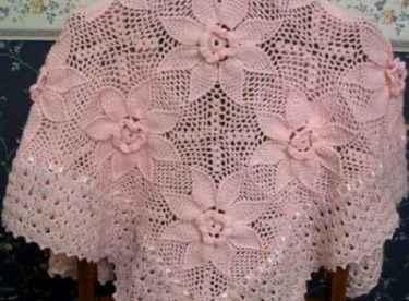 Çiçek Motfili El Örgüsü Şal Modelleri
