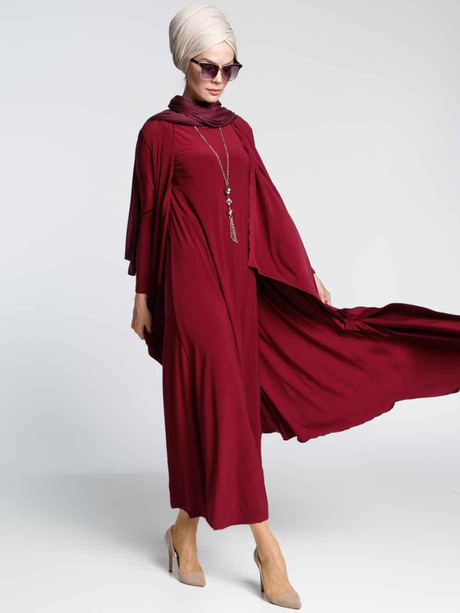 İnşirah Elbiseli Tesettür Takım Modelleri