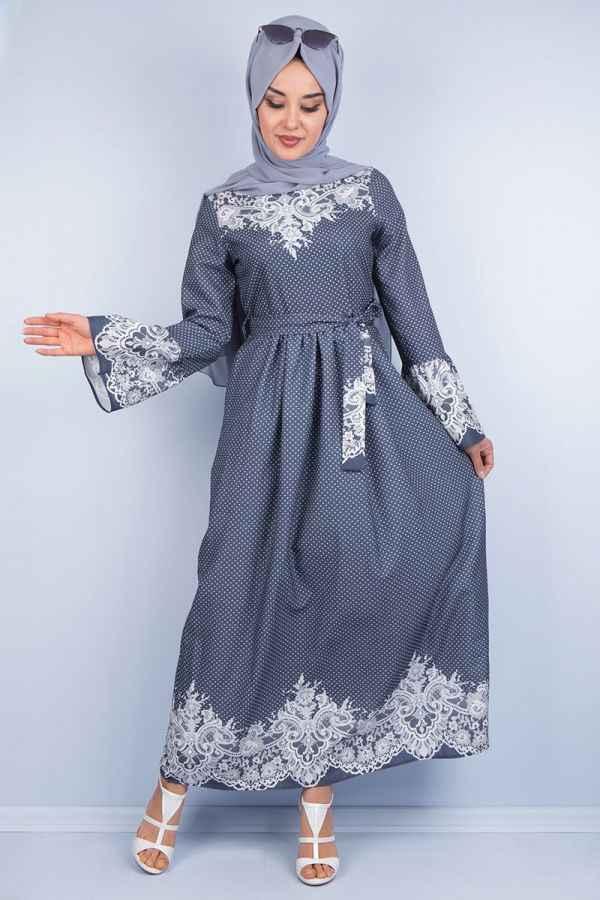 Asilmoda En Güzel Tesettür Elbise Modelleri