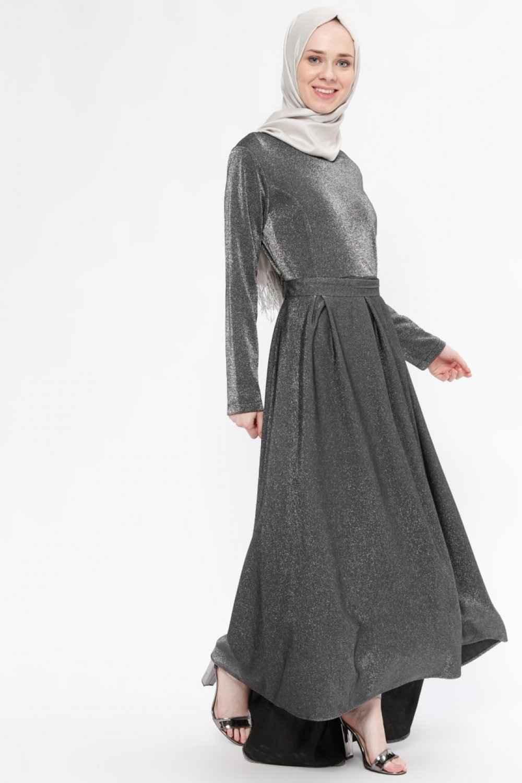 Beha Simli Tesettür Elbise Modelleri