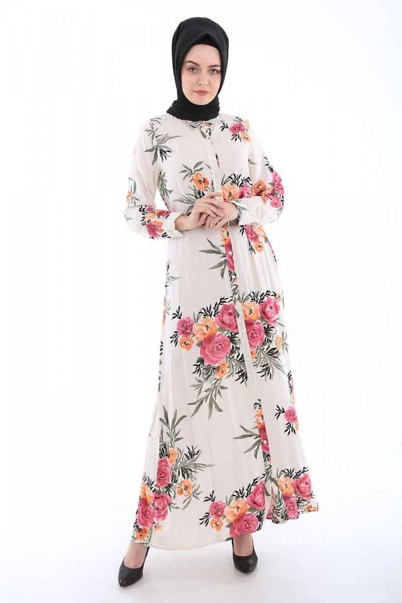 Bigdart Desenli Tesettür Elbise Modelleri
