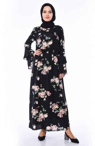 En Şık Desenli Tesettür Elbise Modelleri