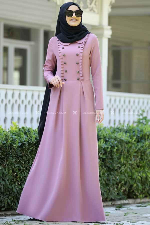 En Güzel Alyadua Tesettür Elbise Modelleri