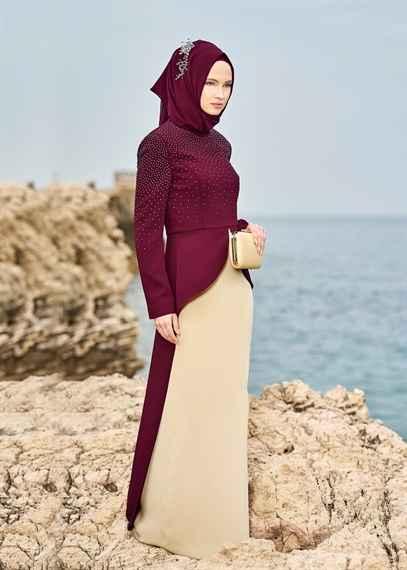 En Güzel Elbiseli Tesettür Takım Modelleri