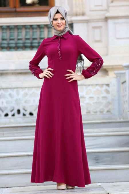En Güzel Puane Tesettür Elbise Modelleri
