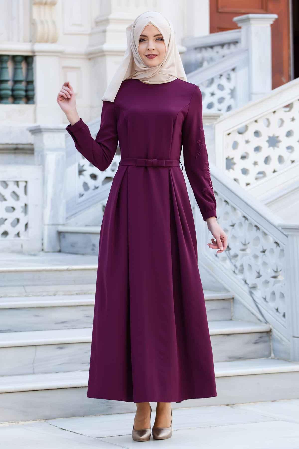 En Güzel Sedanur Tesettür Elbise Modelleri